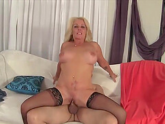 Flawless Mature Blondes Bouncing on Man Meat Compilation