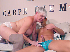 German mature granny with big boobs fuck