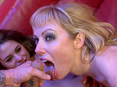 Adrianna Nicole and Cathy Heaven like to ride big cocks together